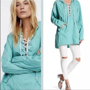 Free People Popling Lace Up Pullover Size Medium